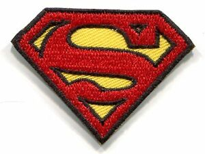 SUPERMAN small 's' chest logo EMBROIDERED IRON-ON PATCH -dc comics mini applique