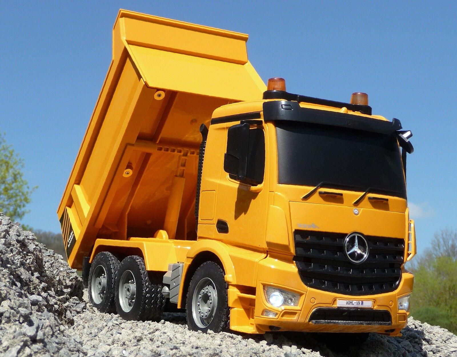 RC Camion benne MERCEDES AROCS in 1:20 lunghezza 37cm con funzione di inclinazione 404940