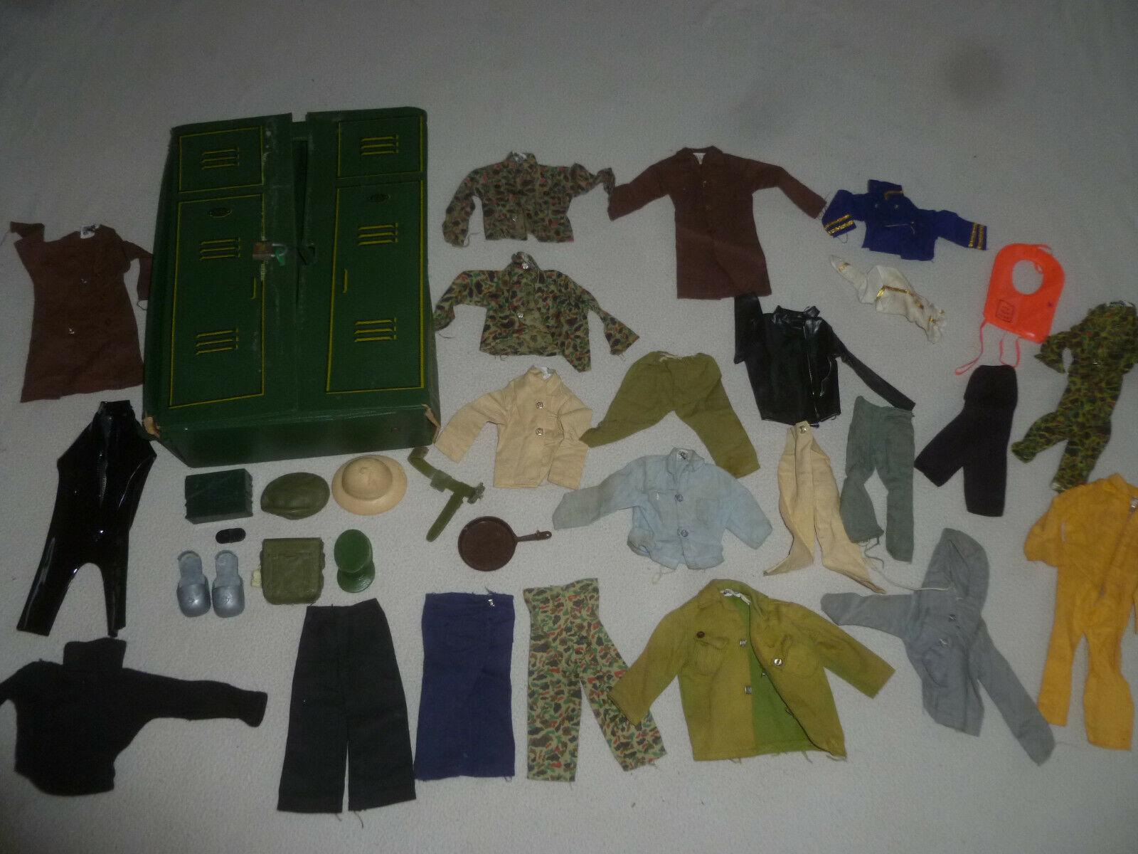 1960S 1970S Gi Joe Ropa Vintage Lote De Camisetas Pantalones Gorras de uniforme Camo Hasbro