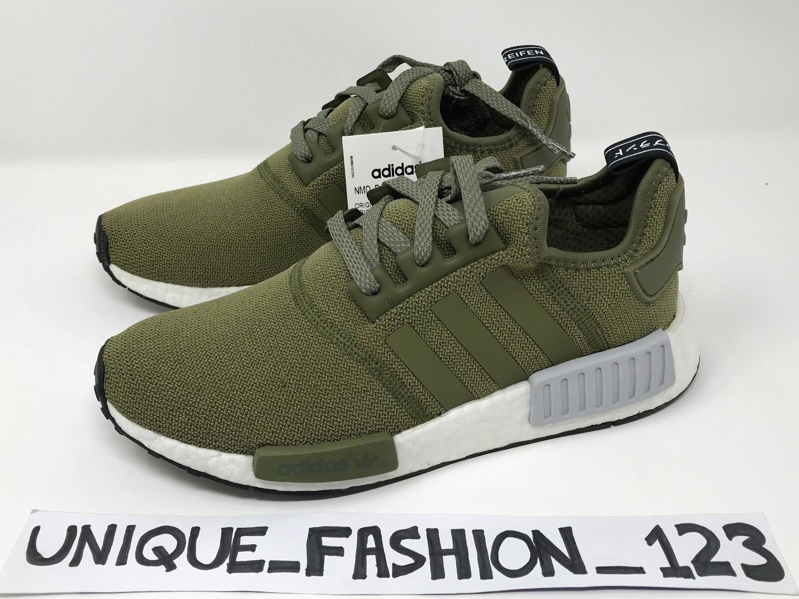 ADIDAS NMD R1 OLIVE CARGO US 8 FOOTLOCKER EU EXCLUSIVE BB2790
