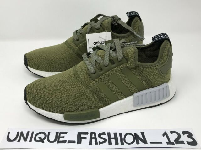 847490205 ADIDAS NMD R1 OLIVE CARGO US 8 UK 7.5 41 41.5 FOOTLOCKER EU EXCLUSIVE BB2790