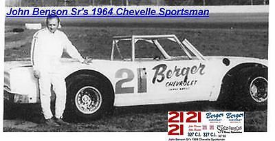 Aggressive Cd_922 #21 John Benson Sr Toys & Hobbies 1964 Chevelle Sportsman 1:64 Scale Decals ~overstock~