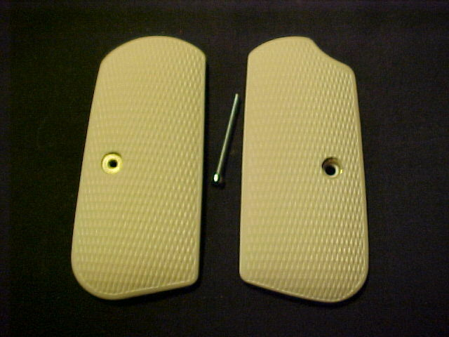 Colt 1903 1908 Hammerless Bonded Ivory Checkered Pistol Grips Beautiful NEW!