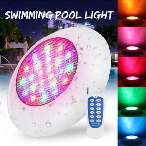 25-55-80W-RGB-Piscine-Lampe-Projecteur-Lumiere-Eclairage-Jardin-Etanche-Remote