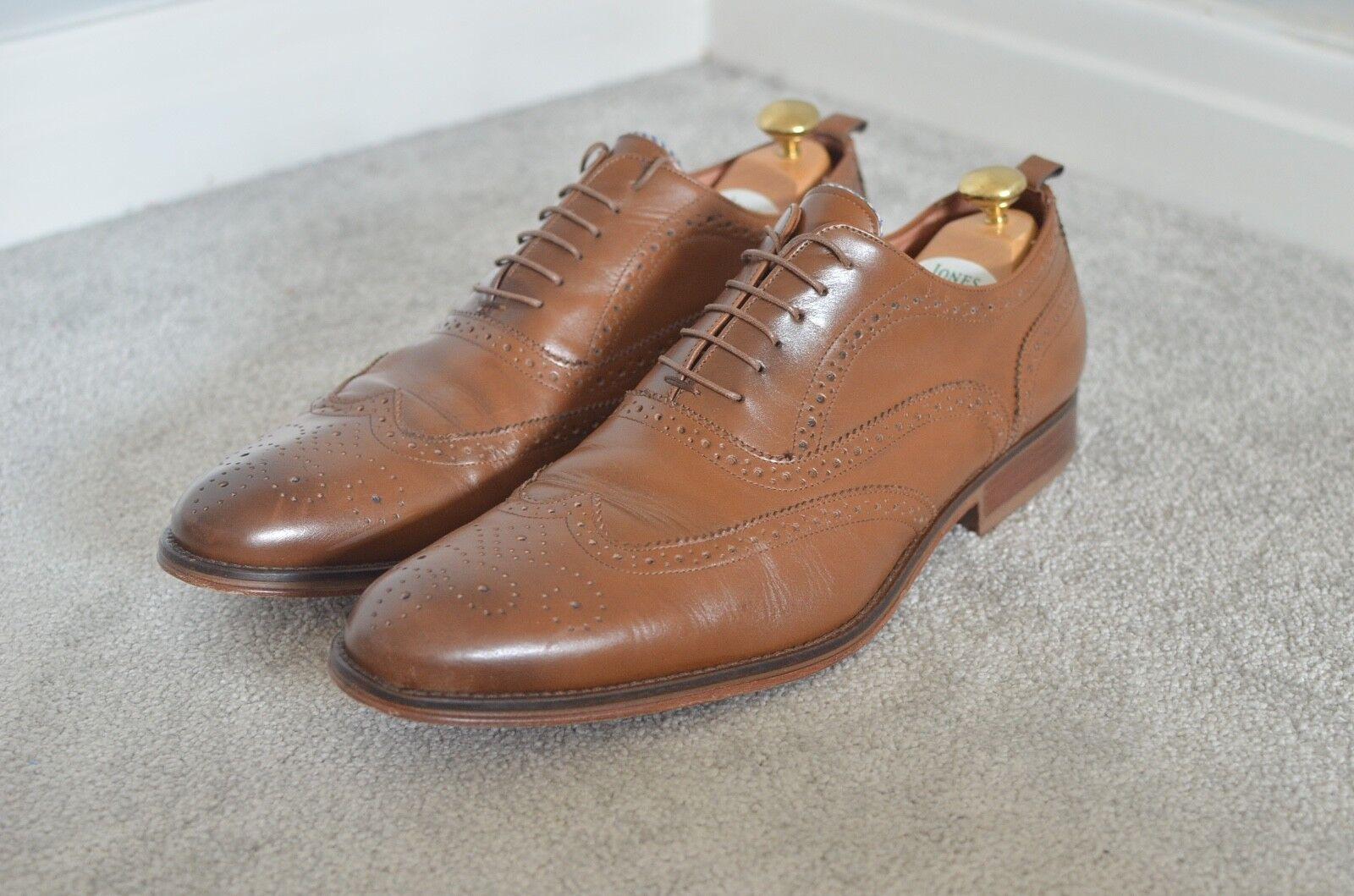 AUSTIN REED Suit maker braun genuine leather smart smart smart oxford brogues schuhe 46 12 65911f