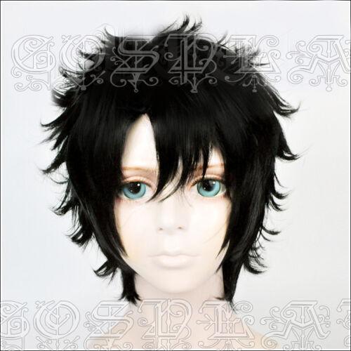 NARUTO Uchiha Shisui Black Short Anime Cosplay Costume Wig Free CAP