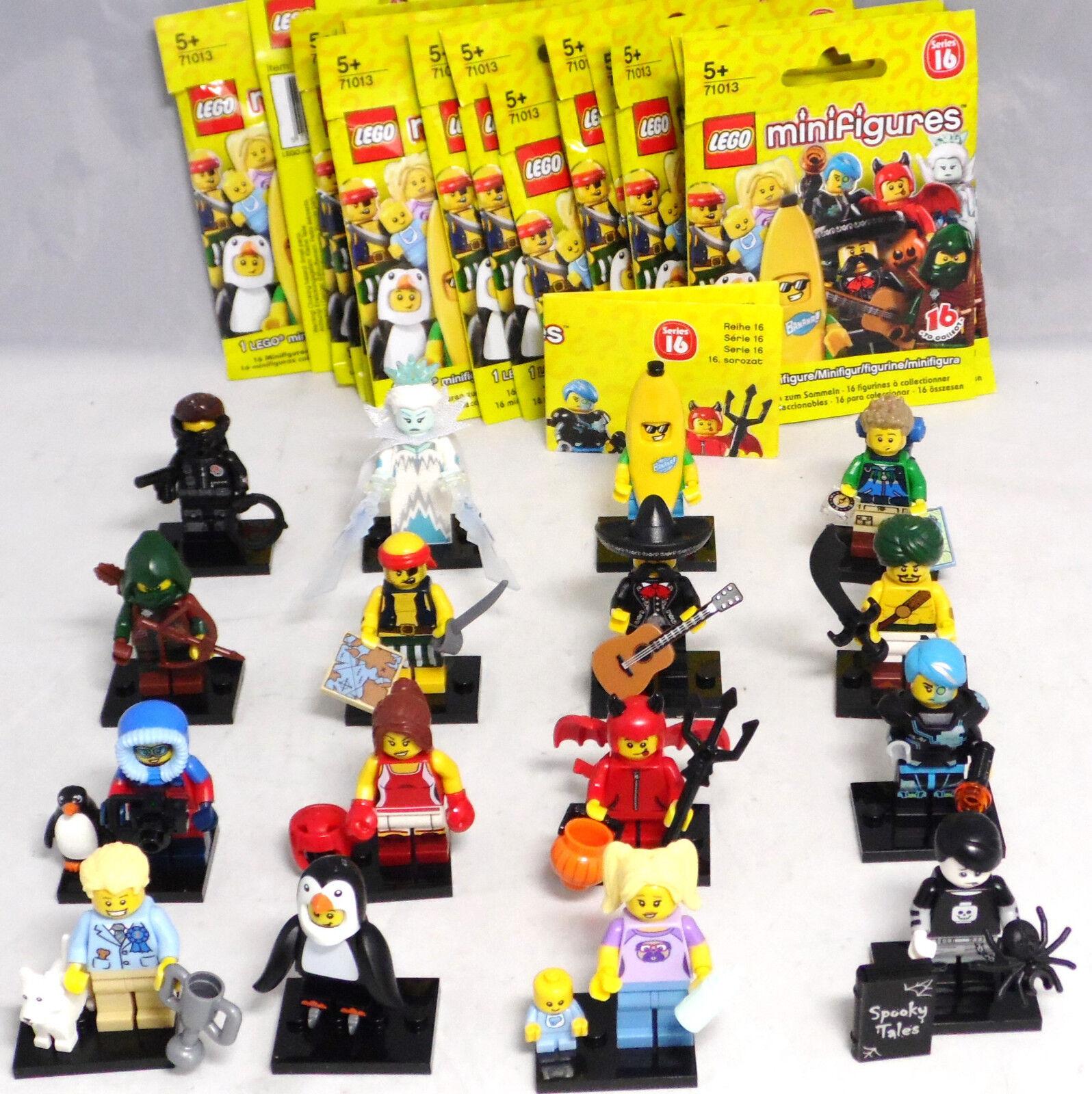 LEGO 71013 Serie 16, Minifiguren 1 kompletter Satz = 16 Figuren NEU NEW