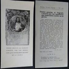 ESTAMPA HOLY CARD SAGRADO CORAZON DE JESUS . MIRA MI TIENDA EBAY  CC1714