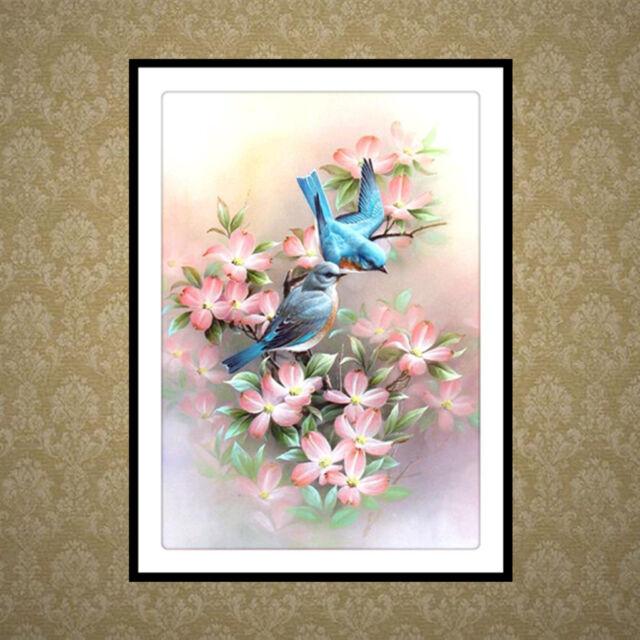 DIY 5D Diamond Painting Embroidery Flower Bird Cross Crafts Stitch Kit Decor