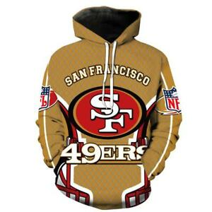 e1838ad6 Details about BIG SALE! SAN FRANCISCO 49ERS Hoodie Football Hooded Pullover  S-5XL 2019