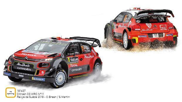 NOREV 181637  Citroen C3 WRC N°11 Rtuttiye de Suède 2018  C.Breen  S.Marti 118