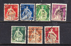 Switzerland postage stamps  1908 7 x Used collection odds - HIGH WYCOMBE, Buckinghamshire, United Kingdom - Switzerland postage stamps  1908 7 x Used collection odds - HIGH WYCOMBE, Buckinghamshire, United Kingdom