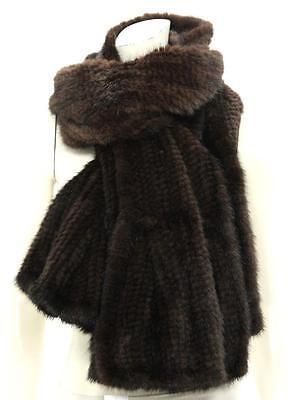 Designer Brown Genuine Mink Fur Scarf