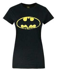 Batman-Distressed-Emblem-Women-039-s-T-Shirt