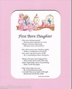 GIFT FIRST BORN DAUGHTER 12 POEM CHOICES by SANDI KNODE ...