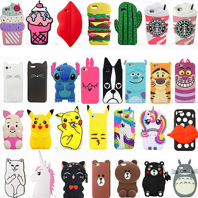 3D Cartoon Disney  Silicone Rubber Soft Case Cover for Huawei P8 P9 5C 4X Y6