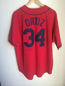 san francisco 9983f 5db95 Details about David Ortiz Signed Jersey replica Boston Red Sox PSA/DNA