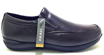 FRAU 31M5 NERO scarpe uomo polacchine francesine pelle slip on camoscio sneakers