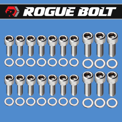 JEEP V8 OIL PAN BOLTS STAINLESS STEEL KIT 290 304 343 360 390 401 AMC
