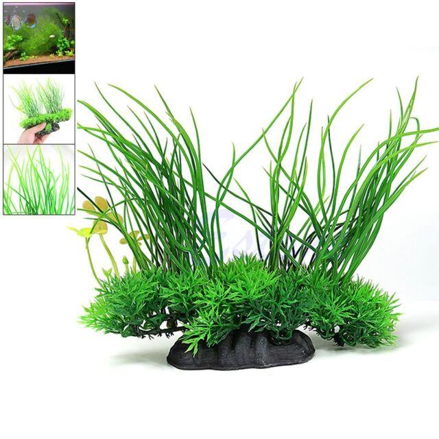 """8"""" Green Artificial Plastic Plant Water Grass Aquarium Decor Fish Tank Ornament"""