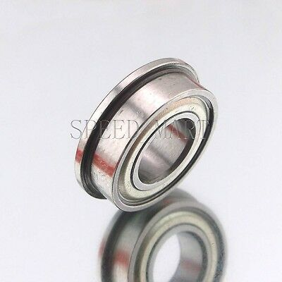 2 x F696zz Mini Metal Double Shielded  Flanged  Ball Bearings 6mm*15mm*5mm