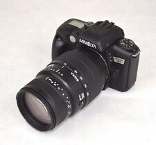 Konica Minolta Maxxum 70 SLR Film Camera with Sigma 70-300mm zoom Lens EUC