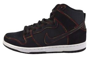 pretty nice baf67 94970 Image is loading Nike-DUNK-HIGH-PRO-SB-Black-White-Skateboarding-