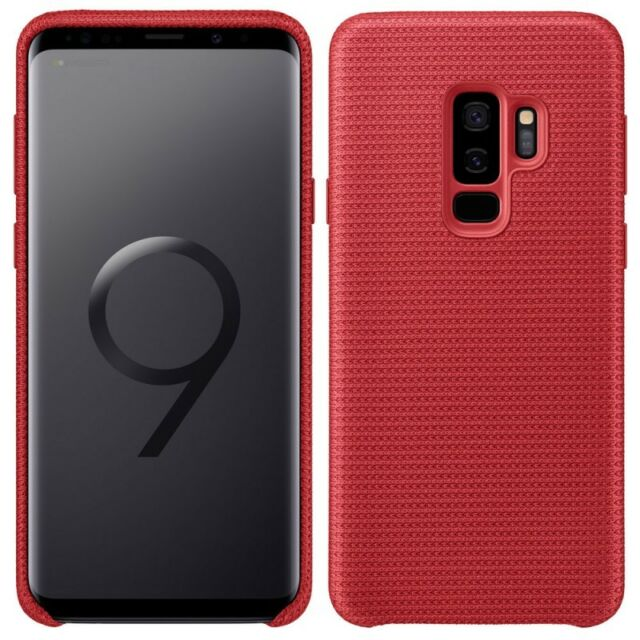 Samsung hyperknit étui ef-gg965fregww pour Galaxy S9 Plus g965f housse rouge