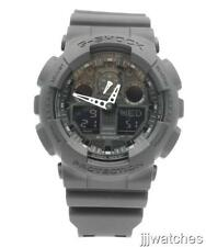 New Casio G-Shock Digi-Ana Black Rubber Chrono Men Watch 50mm GA100-1A1 $99