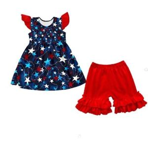 682668658 New Harmony Bee Boutique 3T 4T 5 6 7 8 10 12 14 Ruffle Shortie Set ...