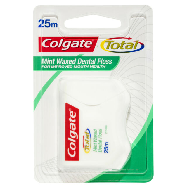 COLGATE TOTAL MINT WAXED DURABLE ORAL CARE DENTAL FLOSS 25M