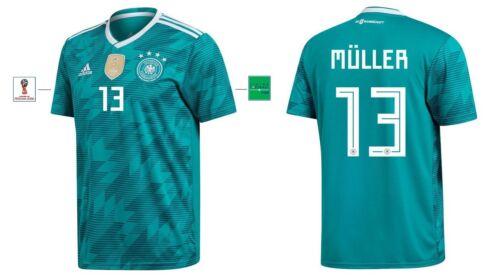 Trikot Adidas DFB WM 2018 Away 128 bis XXXL Müller 13 Deutschland Germany