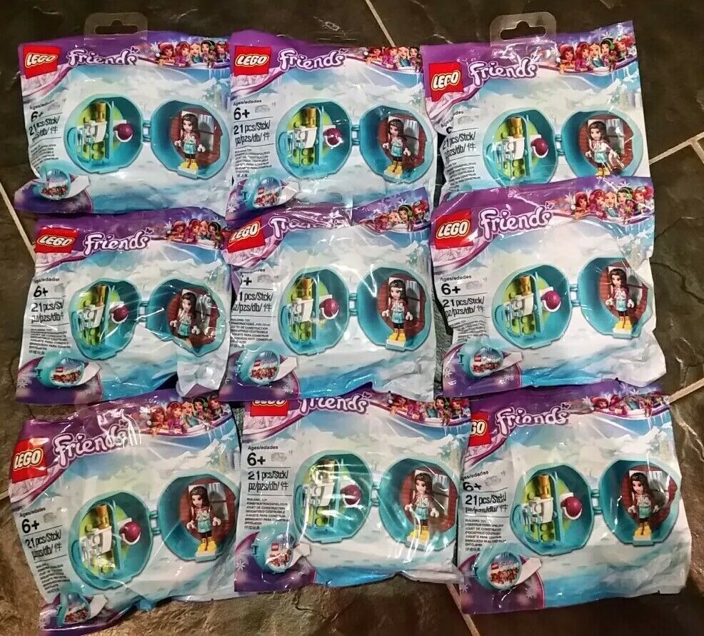 LEGO FRIENDS Emma's Ski Pod 5004920 Polybag Polybag Polybag X9 Girls Party Bags,New And Sealed 83cf3d