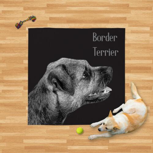 Grande Couverture Chaude Fleece Throw-border terrier 2 Couleurs-Lit pour chien Chaise voiture