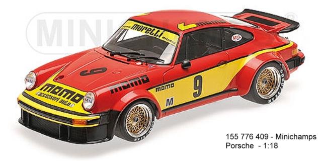 Minichamps 100776409 - Porsche 934 no. 9 - 6std. Silverstone 1977 Brambilla
