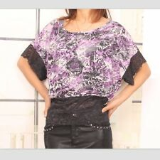 Women Top Batwing Floral Retro Style