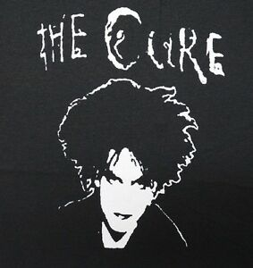Details about The Cure band ***LARGE*** screen printed t-shirt Black Robert  Smith