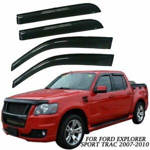 Outside Mount 2MM Vent Visors Deflector 4pcs Ford Explorer Sport Trac 07 08-11