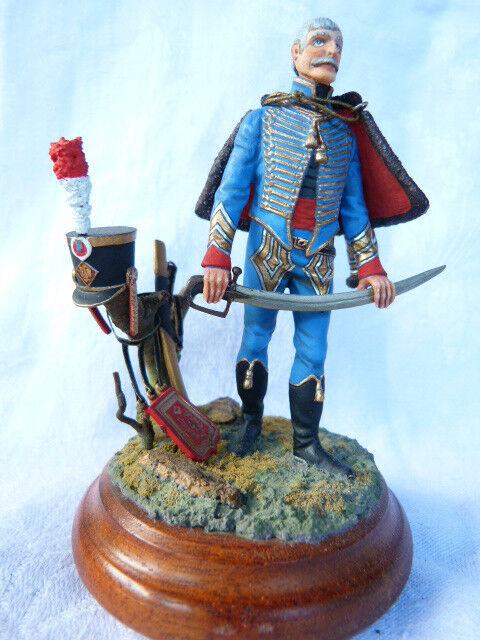 Soldat de plomb peinture gut 80mm - major du 4 è mich f é giment de hussard 1810