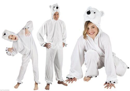 Eisbär Kostüm Overall Plüsch Tier Eisbärkostüm Polarbär Eisbäroverall Bär Tiger