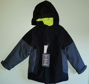 0ea5a8b48 NWT  70 Children s Place Boys 4 Winter Coat 3 IN 1 Black Gray Neon ...