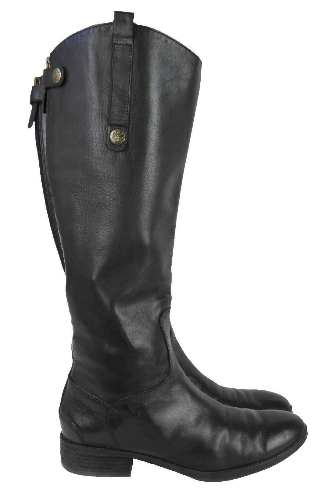 SAM EDELMAN 'Penny' Riding stivali Tall Leather Zip nero Leather avvio 9M