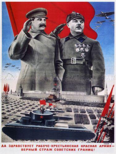 PROPAGANDA MILITARY RED ARMY STALIN SOVIET UNION ART POSTER 880PYLV
