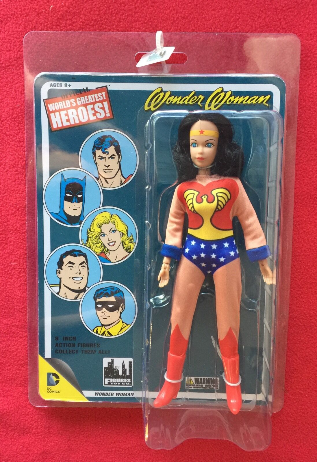 Figures Toy Company Worlds Greatest Heroes RETRO MEGO Wonder Woman 8  figure