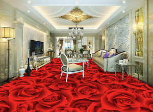 3D Red pink Petals 7463 Floor WallPaper Murals Wall Print Decal 5D AU Lemon