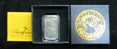 "1987 UNITED FEATURES SYN SILVER TOWNE /""GARFIELD/"" 1 OUNCE PROOF SILVER BAR"