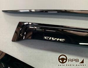 For Honda Civic 16-20 Hatchback Logo Window Visor Guard Vent Deflector
