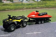 Quad With Trailer And Jet Ski Siku 2314 Yellow Red Scale 1 50 Ebay