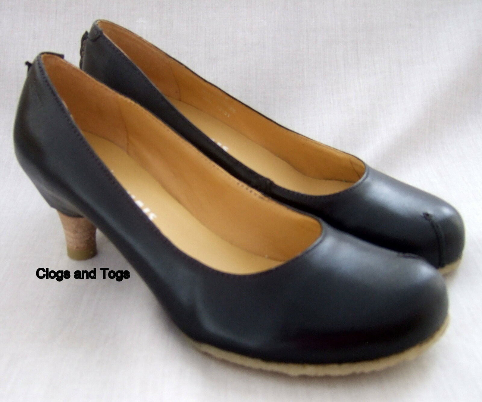NEW CLARKS ORIGINALS AIRLIE REEF WOMENS BLACK LEATHER SHOES
