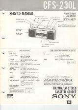 SONY - CFS 230L 230S 244S 240L 250L 280L - 6x Service Manual - B2378
